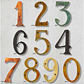 Cutout House Numbers